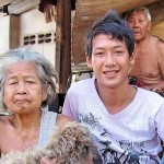 A young member of the MPHC visiting long lost grandparents